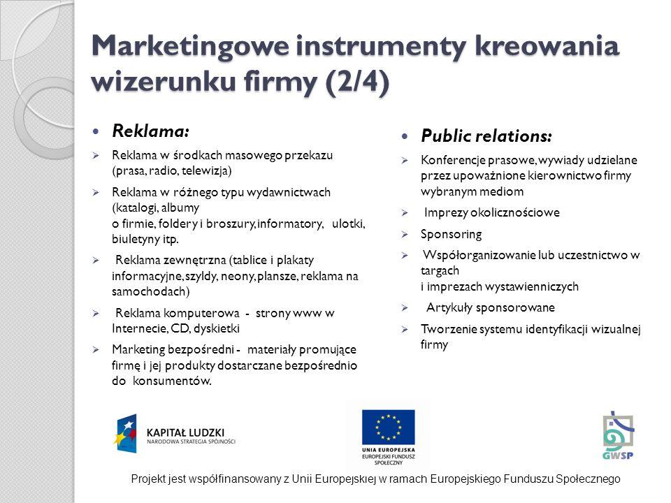 Marketingowe instrumenty kreowania wizerunku firmy (2/4)