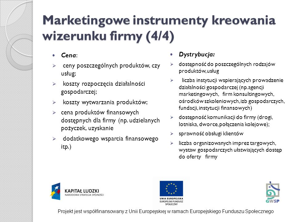 Marketingowe instrumenty kreowania wizerunku firmy (4/4)