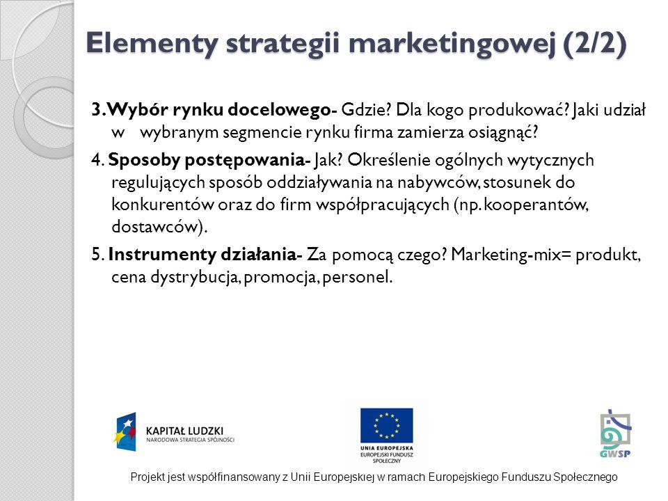 Elementy strategii marketingowej (2/2)