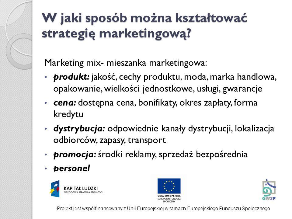W jaki sposób można kształtować strategię marketingową