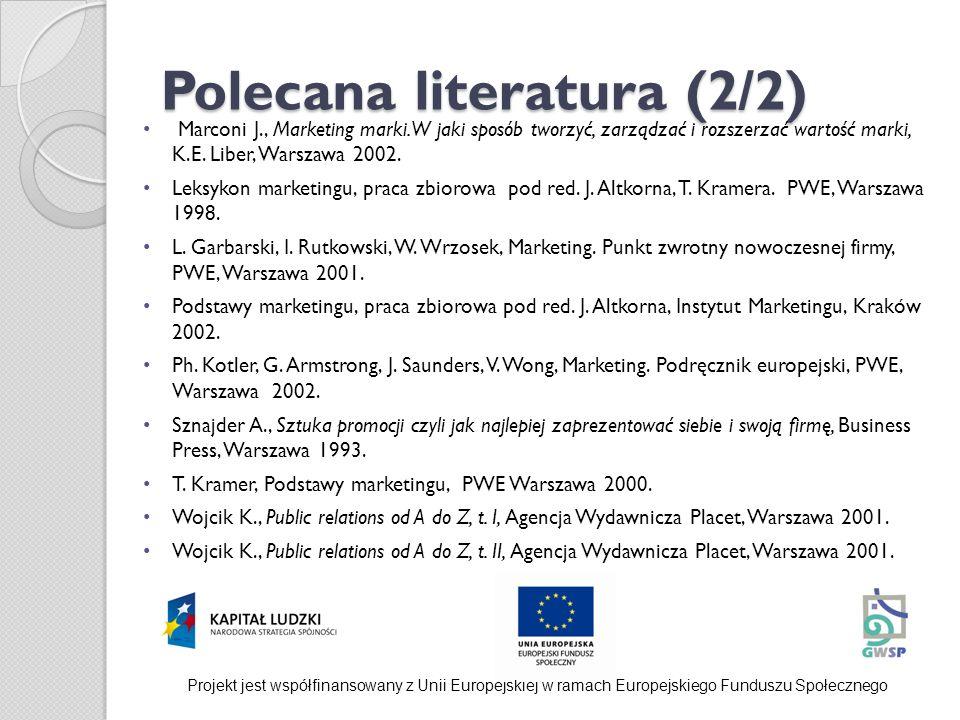 Polecana literatura (2/2)