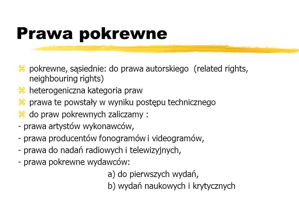 Prawa pokrewne pokrewne, sąsiednie: do prawa autorskiego (related rights, neighbouring rights) heterogeniczna kategoria praw.