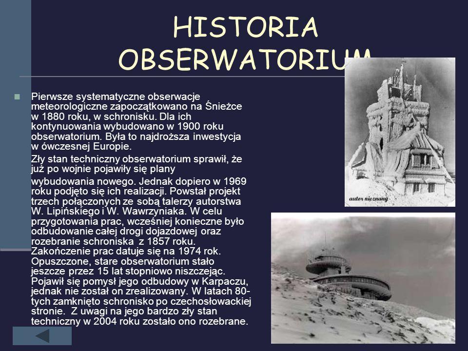 HISTORIA OBSERWATORIUM