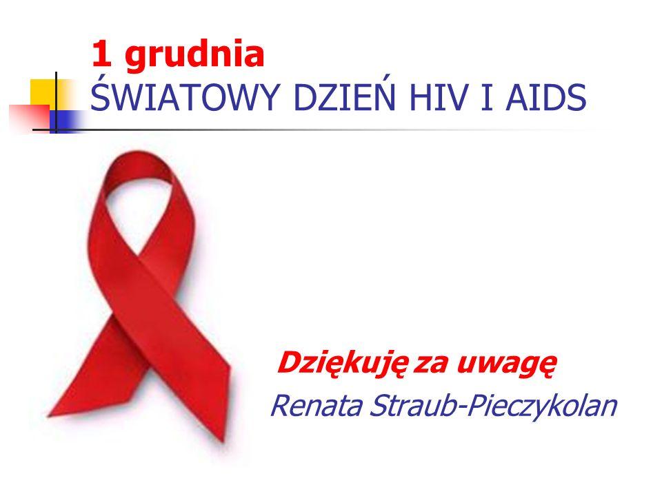 1 grudnia ŚWIATOWY DZIEŃ HIV I AIDS
