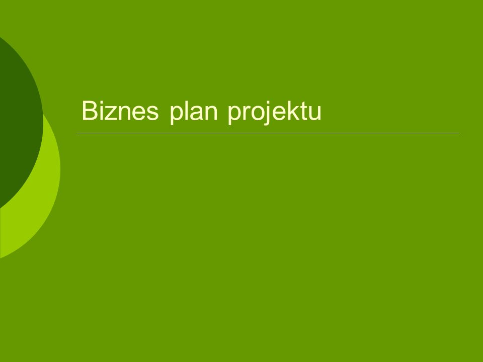 Biznes plan projektu