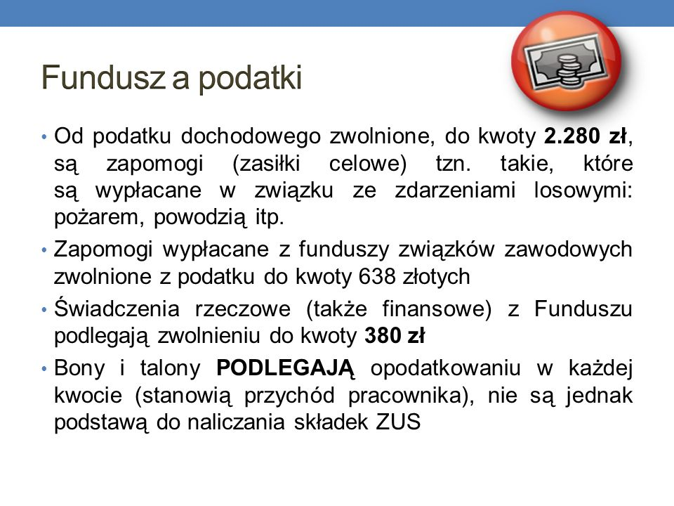 Fundusz a podatki