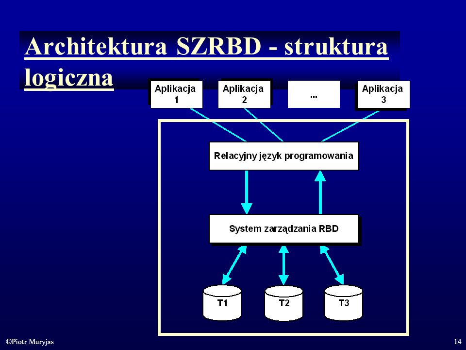 Architektura SZRBD - struktura logiczna