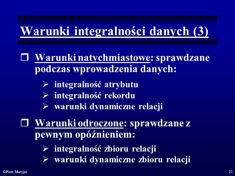 Warunki integralności danych (3)