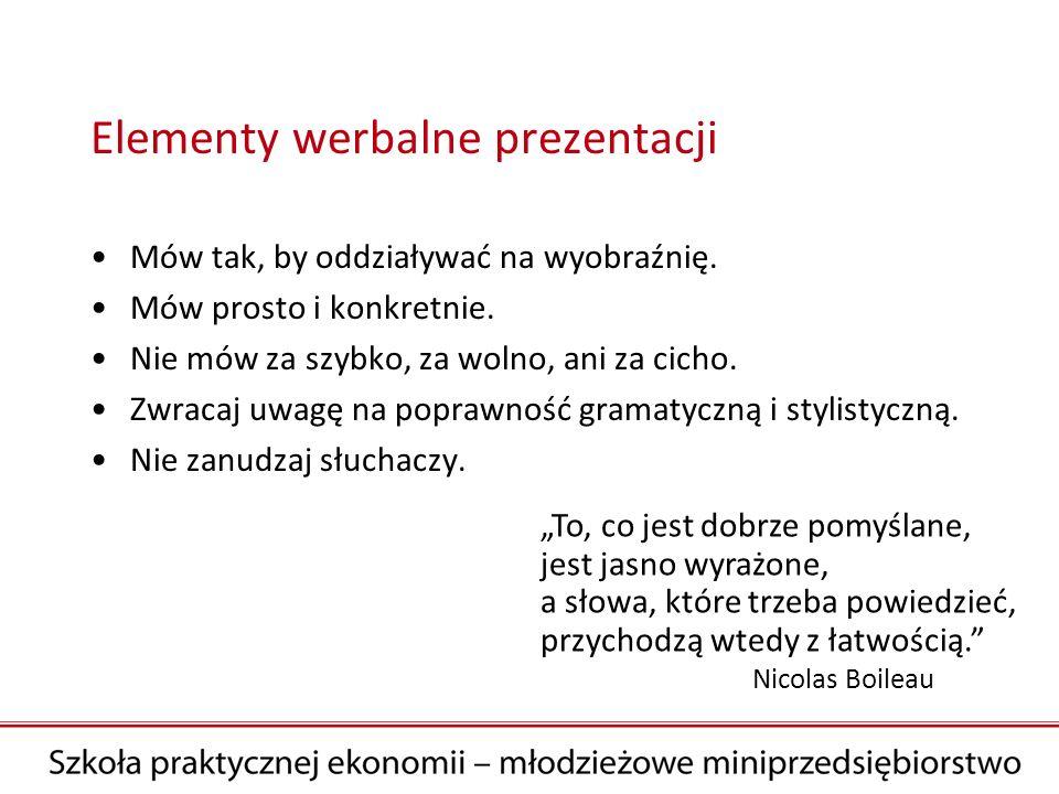 Elementy werbalne prezentacji