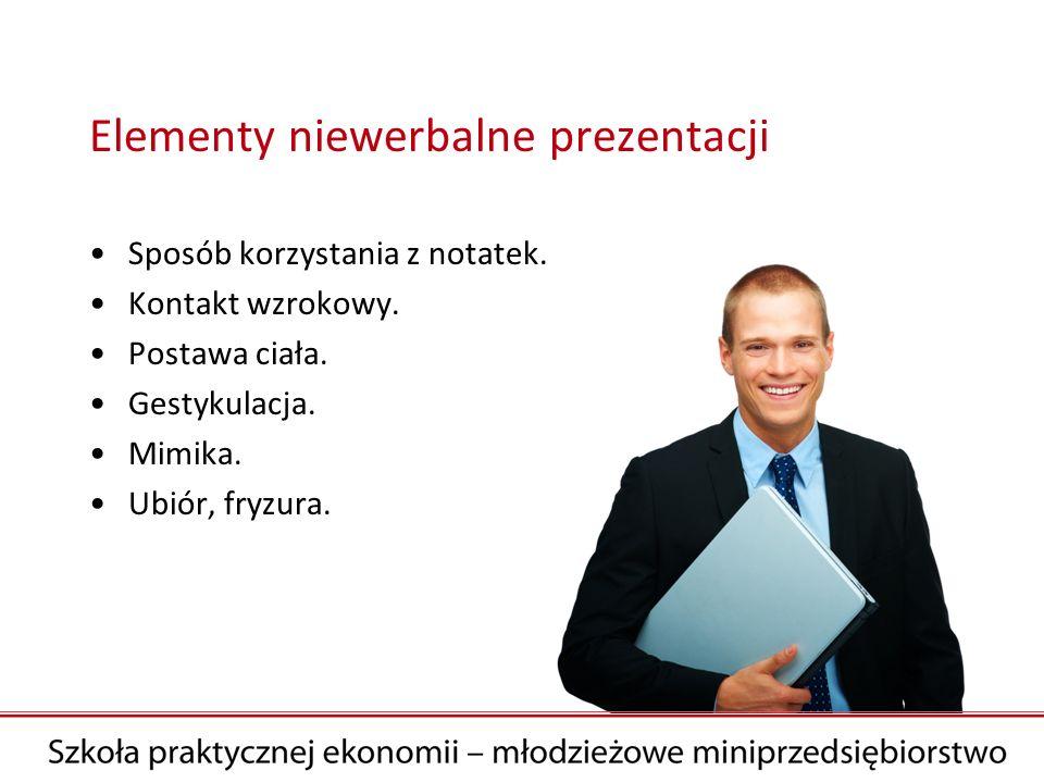 Elementy niewerbalne prezentacji