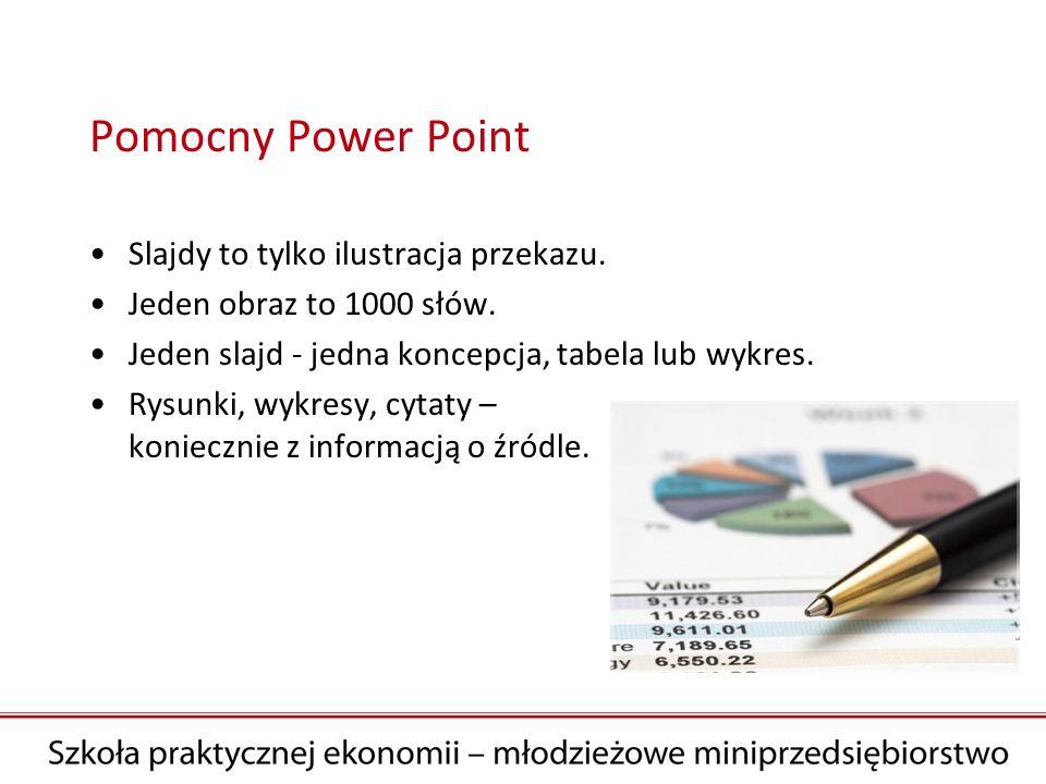 Pomocny Power Point Slajdy to tylko ilustracja przekazu.