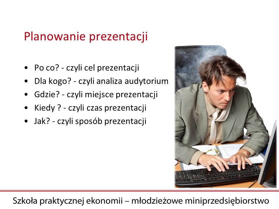 Planowanie prezentacji