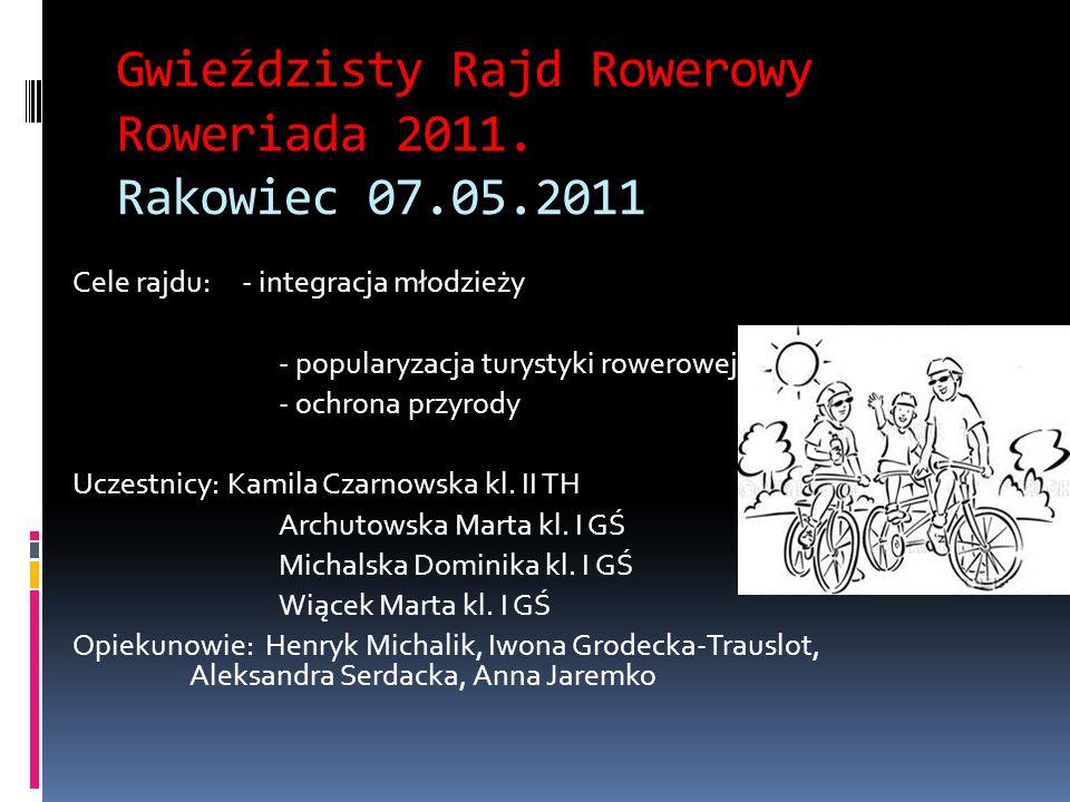 Gwieździsty Rajd Rowerowy Roweriada 2011. Rakowiec 07.05.2011