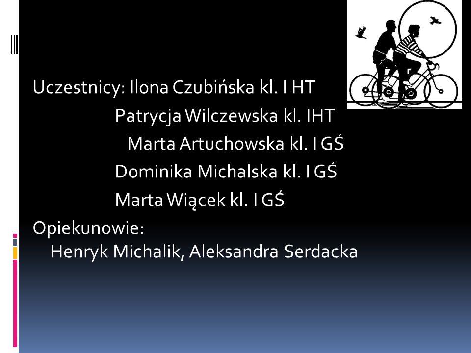 Uczestnicy: Ilona Czubińska kl. I HT Patrycja Wilczewska kl