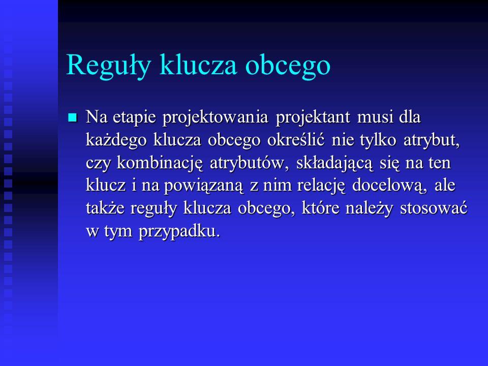 Reguły klucza obcego