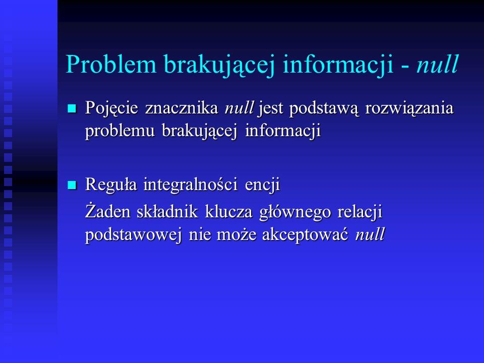 Problem brakującej informacji - null