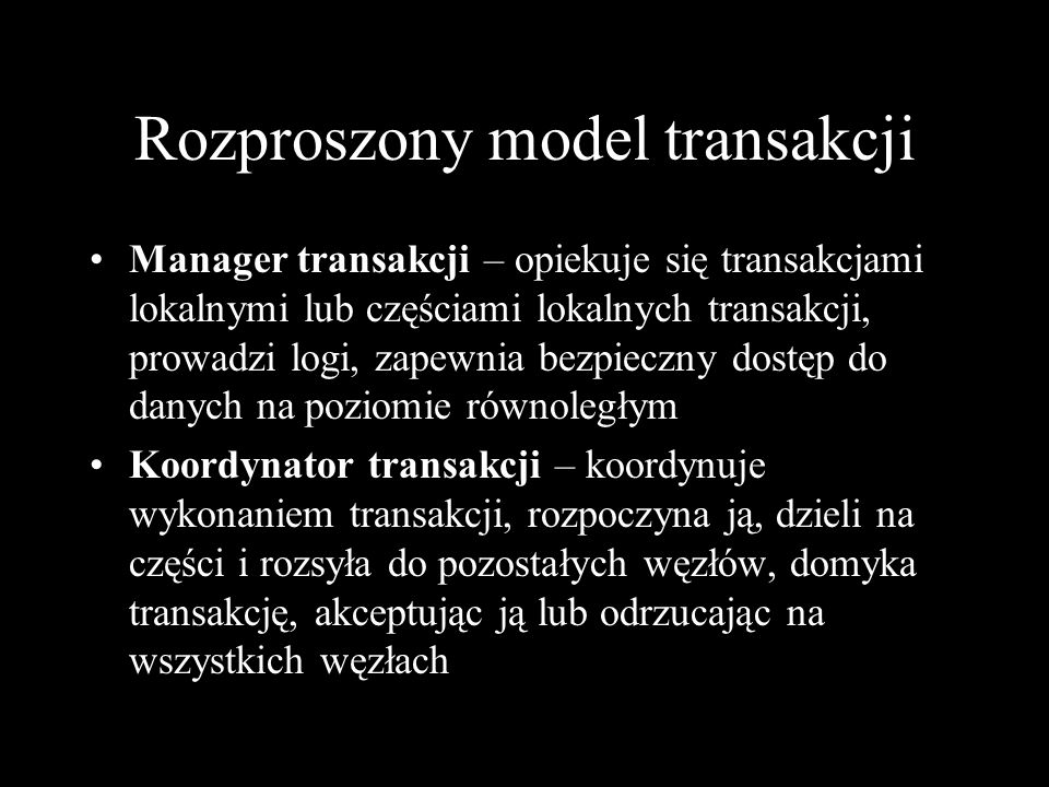 Rozproszony model transakcji