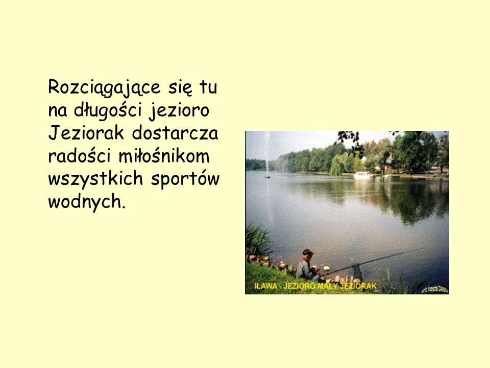 Rozciągające się tu na długości jezioro Jeziorak dostarcza radości miłośnikom wszystkich sportów wodnych.