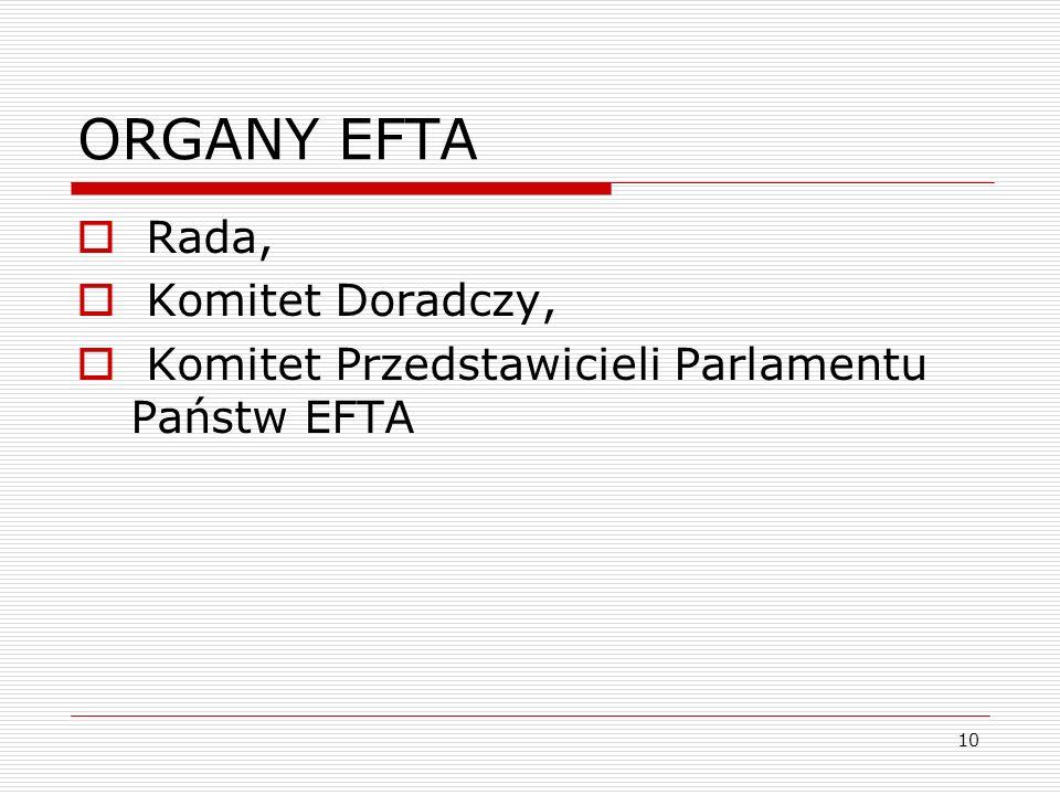 ORGANY EFTA Rada, Komitet Doradczy,