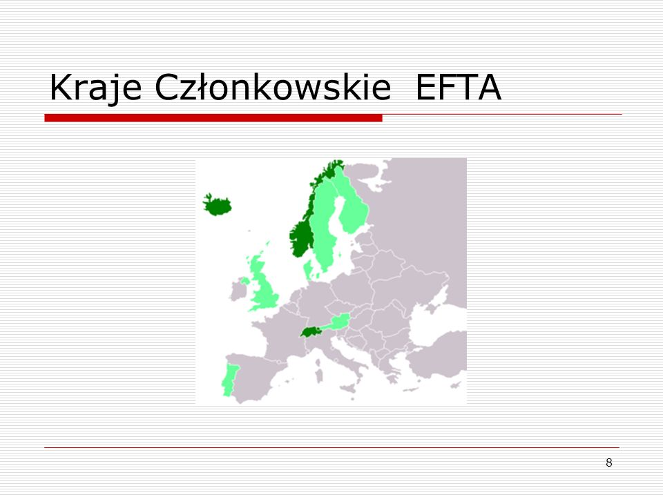 Kraje Członkowskie EFTA