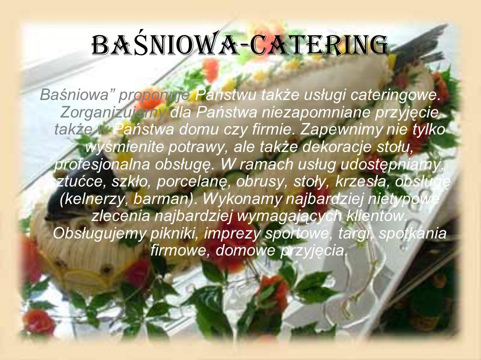 BAŚNIOWA-CATERING