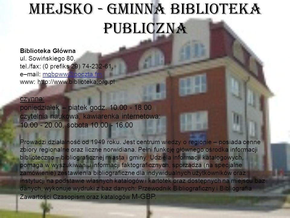 Miejsko - Gminna Biblioteka Publiczna