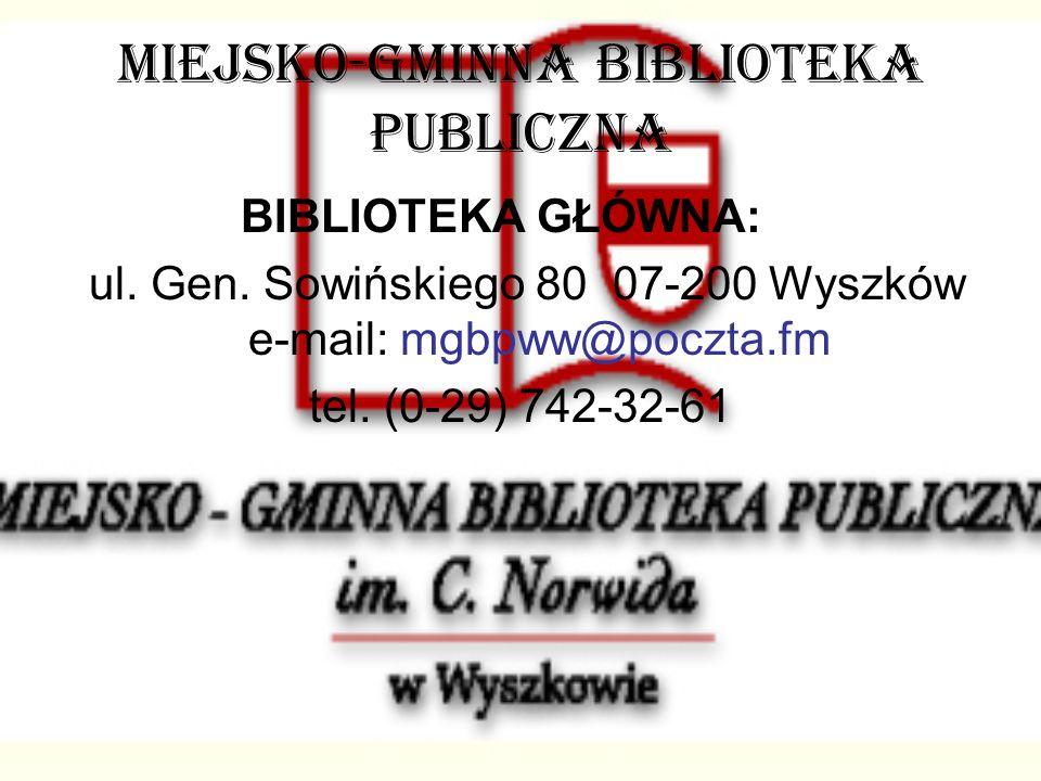 MIEJSKO-GMINNA BIBLIOTEKA PUBLICZNA