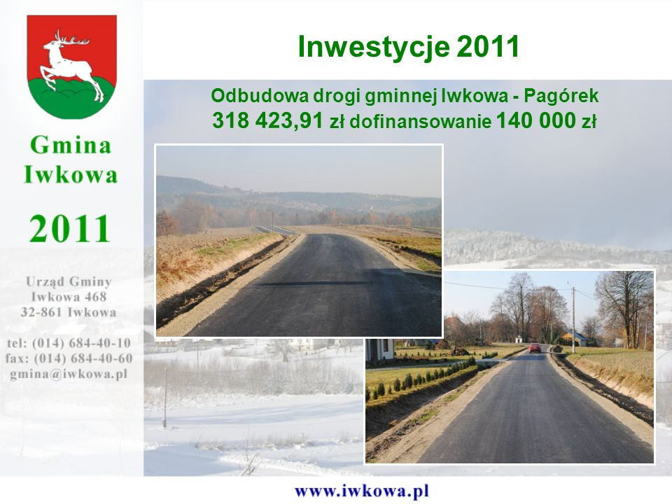 Odbudowa drogi gminnej Iwkowa - Pagórek
