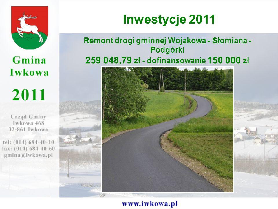 Remont drogi gminnej Wojakowa - Słomiana - Podgórki