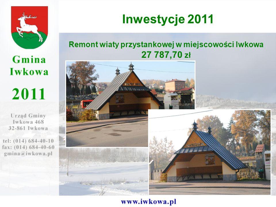 Remont wiaty przystankowej w miejscowości Iwkowa