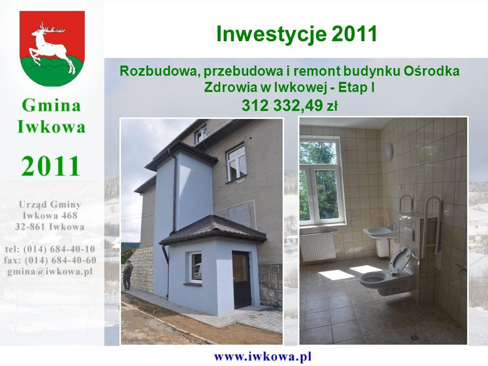 Inwestycje 2011 Rozbudowa, przebudowa i remont budynku Ośrodka Zdrowia w Iwkowej - Etap I.