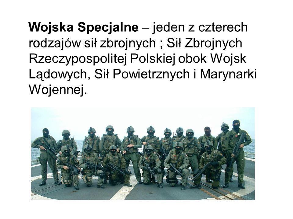 Wojska Specjalne – jeden z czterech rodzajów sił zbrojnych ; Sił Zbrojnych Rzeczypospolitej Polskiej obok Wojsk Lądowych, Sił Powietrznych i Marynarki Wojennej.