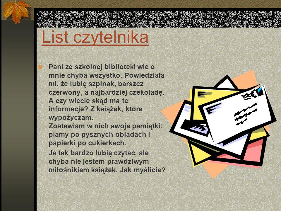 List czytelnika