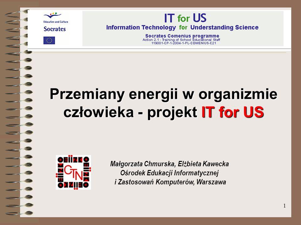 Przemiany energii w organizmie człowieka - projekt IT for US