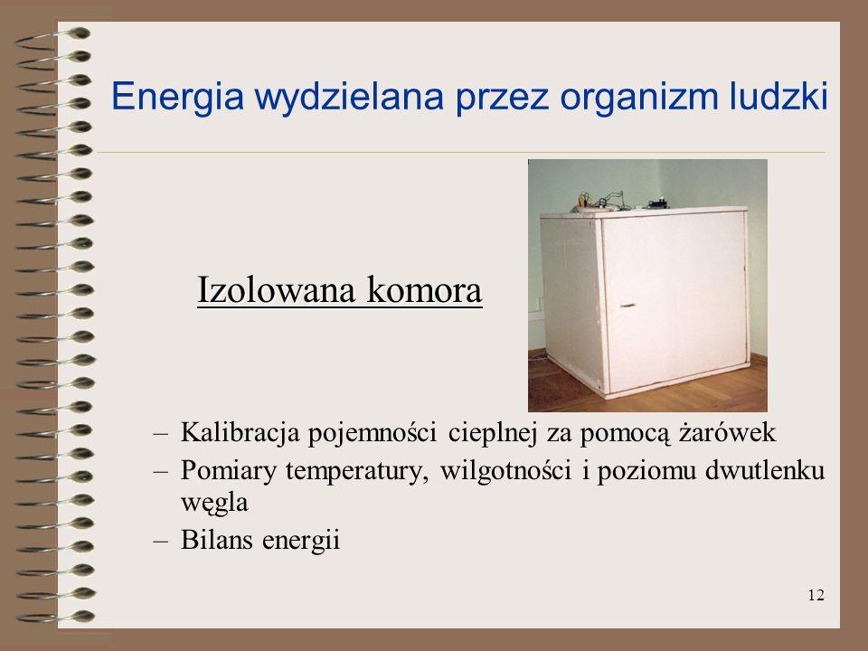 Energia wydzielana przez organizm ludzki