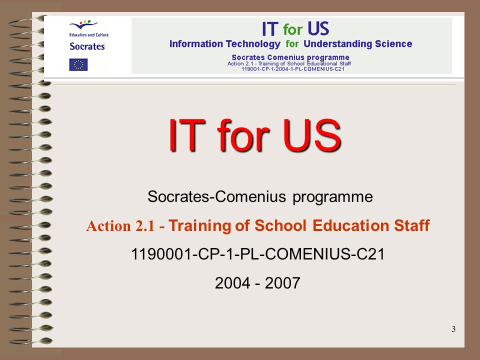 Action 2.1 - Training of School Education Staff