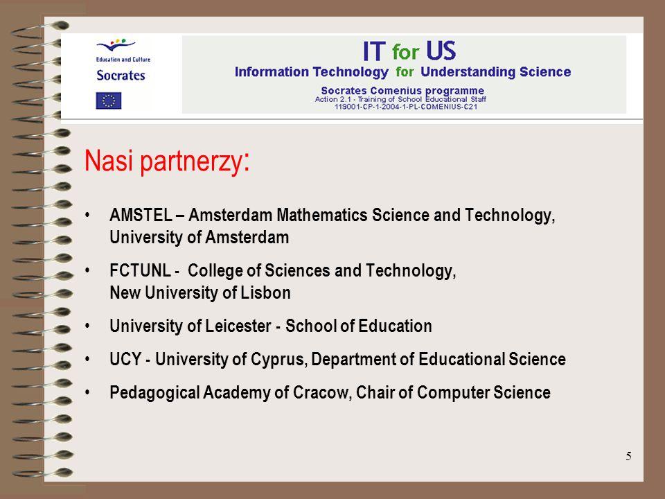 Nasi partnerzy:AMSTEL – Amsterdam Mathematics Science and Technology, University of Amsterdam.