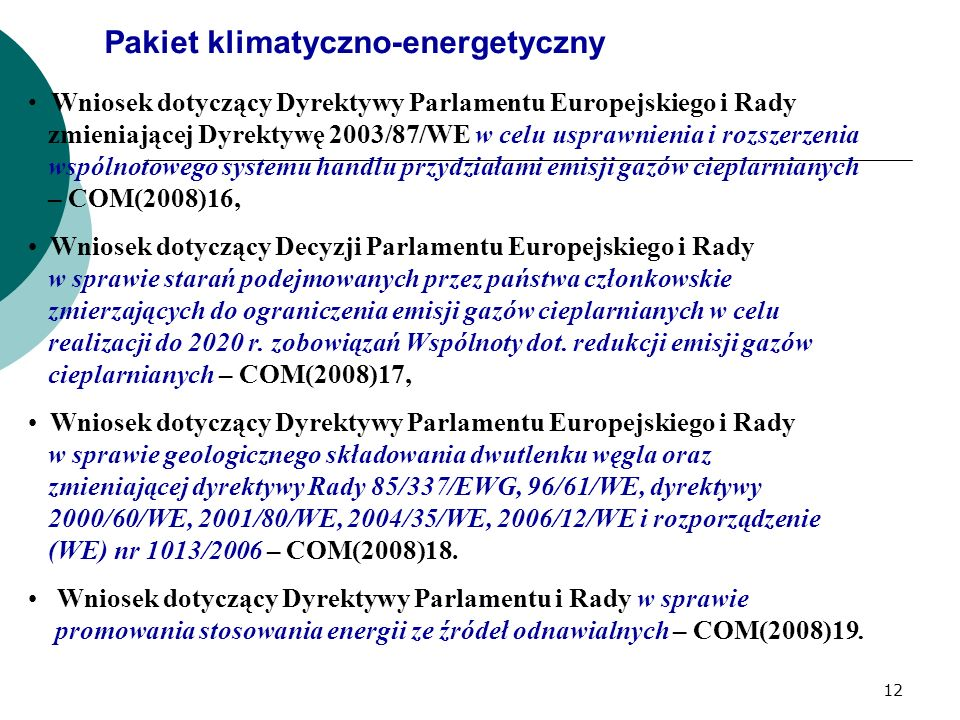 Pakiet klimatyczno-energetyczny