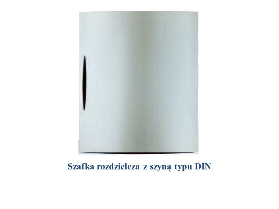 Szafka rozdzielcza z szyną typu DIN
