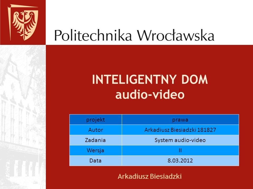 INTELIGENTNY DOM audio-video