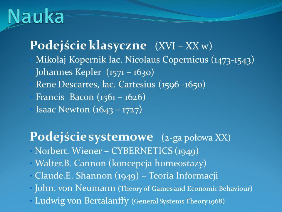 Nauka Podejście klasyczne (XVI – XX w)