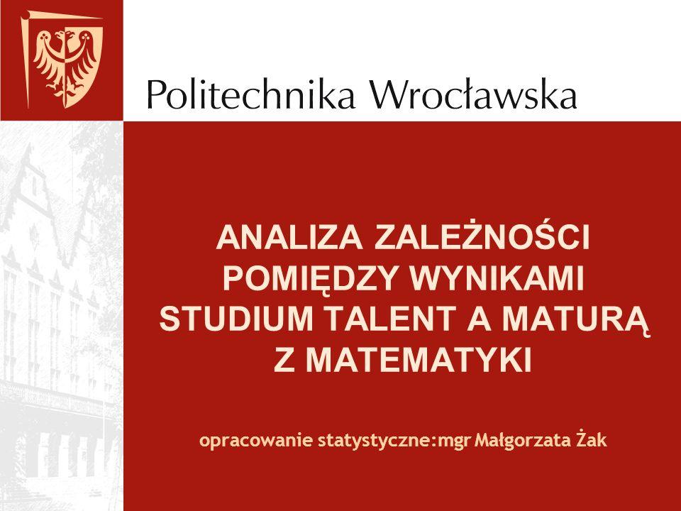 opracowanie statystyczne:mgr Małgorzata Żak