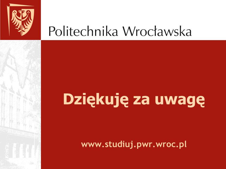Dziękuję za uwagę www.studiuj.pwr.wroc.pl
