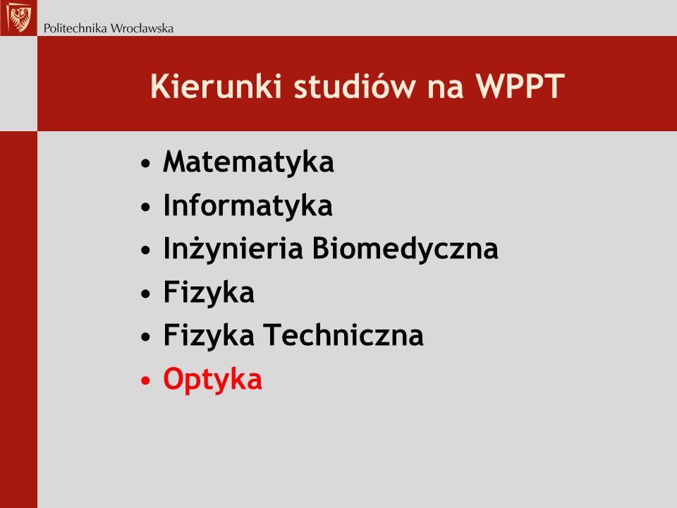 Kierunki studiów na WPPT