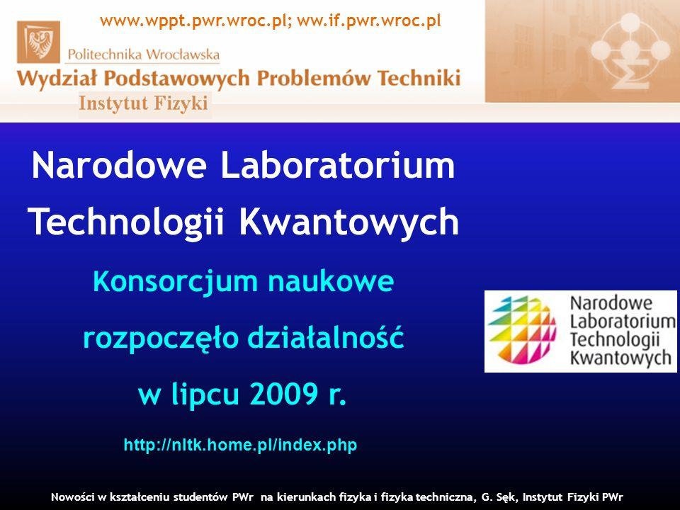Narodowe Laboratorium Technologii Kwantowych Konsorcjum naukowe