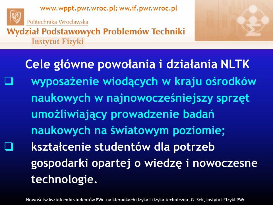 Cele główne powołania i działania NLTK