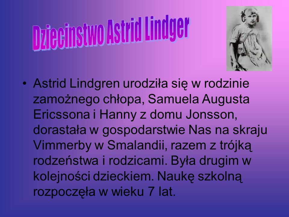 Dziecinstwo Astrid Lindger