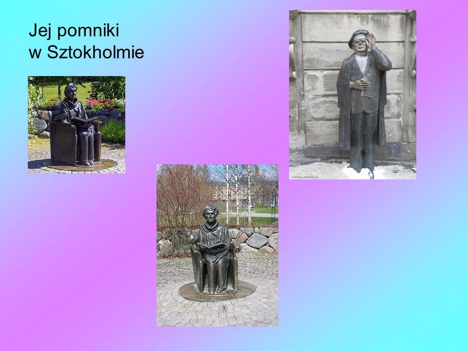 Jej pomniki w Sztokholmie