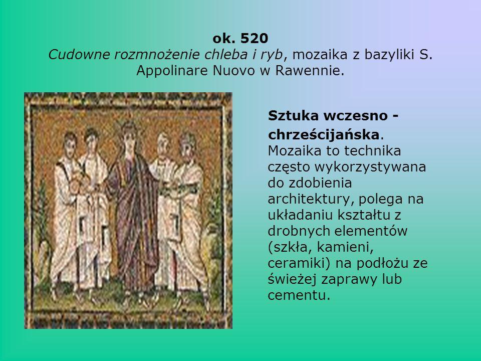 ok. 520 Cudowne rozmnożenie chleba i ryb, mozaika z bazyliki S
