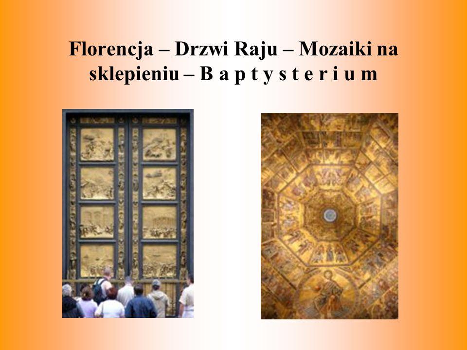 Florencja – Drzwi Raju – Mozaiki na sklepieniu – B a p t y s t e r i u m
